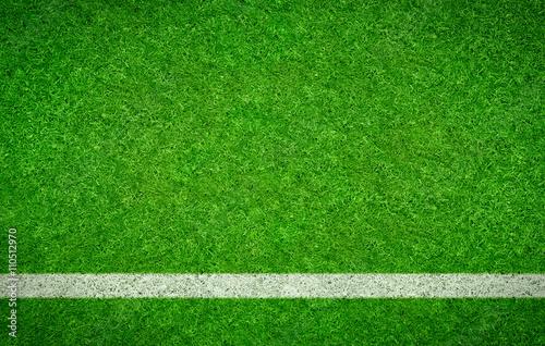 Fussballrasen Mit Waagrechter Linie Stock Photo And Royalty