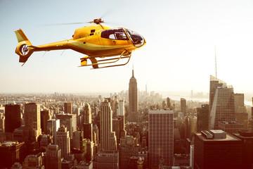 Hubschrauberflug über New York