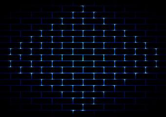 vector brick  dark light blue background. illustration vector de