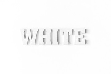 white word