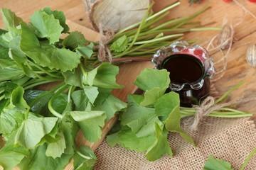 Asiatic juice and centella asiatica .