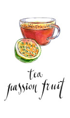 Tea from passion fruit
