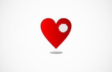 Broken Heart Vektor Logo