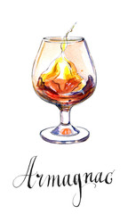 Glass of armagnac