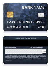 Credit Card with Abstract Polygon Pattern