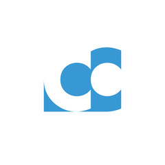 CC Logo | Vector Graphic Branding Letter Element | jpg, eps, path, web, app, art, ai | White Background