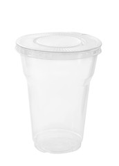 Plastic container / Plastic container on white background.