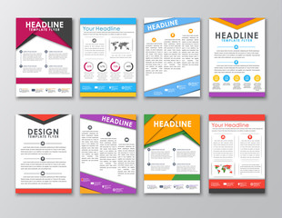 A set of brochures in the style of the material design