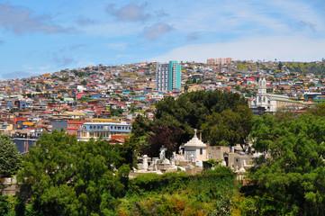 Panorama of the Chilean  city  Valparaiso