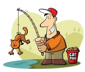 Funny fishing cartoon