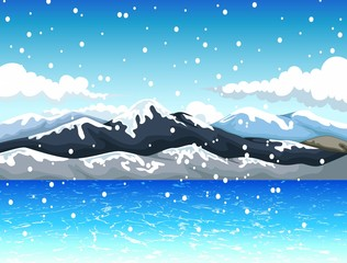 beautiful view of sky mountain landscape background