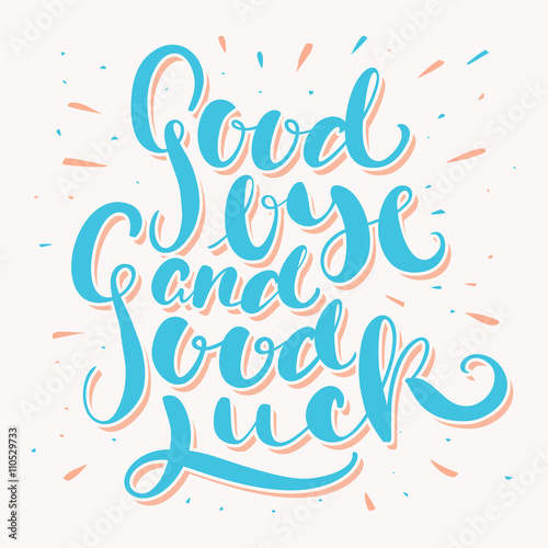 goodbye and good luck farewell card stock image and royalty free