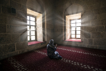 Muslim Women Praying In Mosque