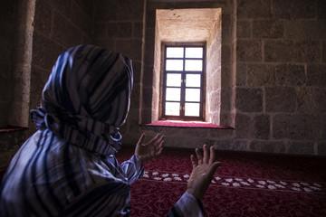 Muslim Women Praying In Mosque
