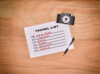 drawing travel list