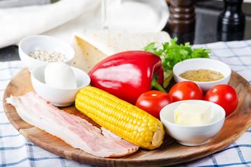vegan burrito with corn