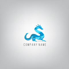 Dragon. Logo Icon Design Template Elements. Concept For Your Logo. Vector Illustration.
