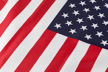 Closeup of fragment of USA flag