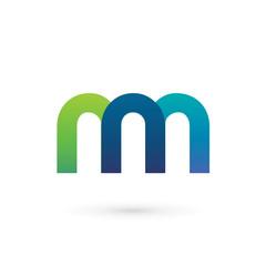 Modern Colorful Letter N M Logo