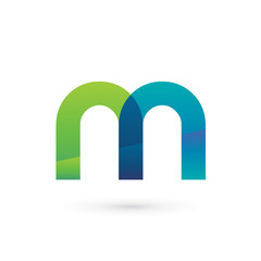 Modern Colorful Letter N N Logo
