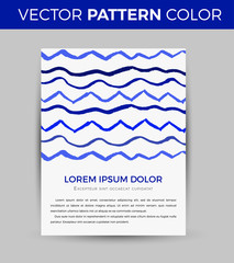 Card design with hand-drawn marker vector markers background. Vector design template for card, letter, banner, menu.