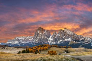 Foto op Plexiglas Zalm Autumn Morning in Mountain