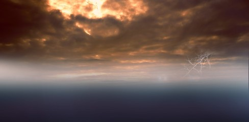 Digital image of a cloudy sky