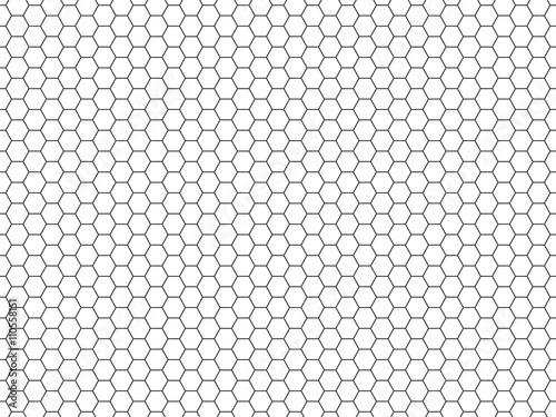 Quot Grid Seamless Pattern Hexagonal Cell Texture Honeycomb