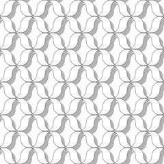 Abstract seamless patterns. Fashion volume graphics design. Monochrome geometric wave texture. Modern style for wallpaper, wrapping, fabric, background design, apparel, other print production. Vector