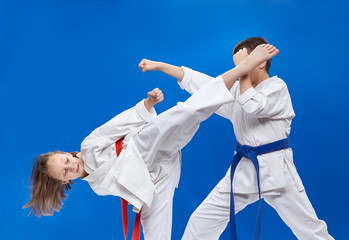 Punch arm and kick leg are training athletes
