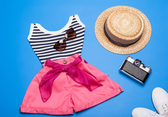 Collection of summer woman clothes