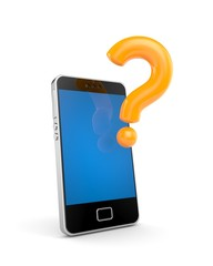 Mobile phone with question