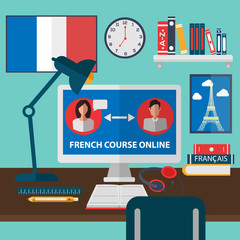 Learning French Online. Online Training Courses. French Language