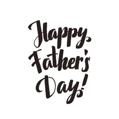 Happy Fathers Day Calligraphy Greting card. Ink Inscription. Gr