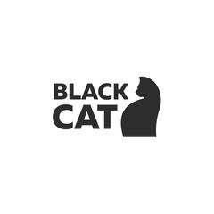 Design kitten logo minimal modern style new flat