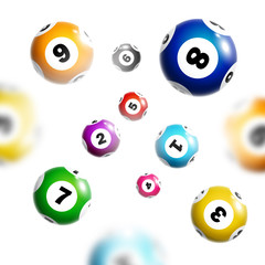 Lottery background with colorful balls.
