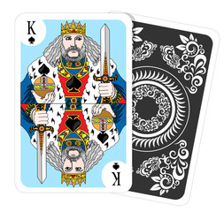 King of spades - playing card