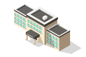 isometric School Building.