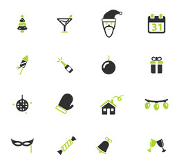 New year simply icons
