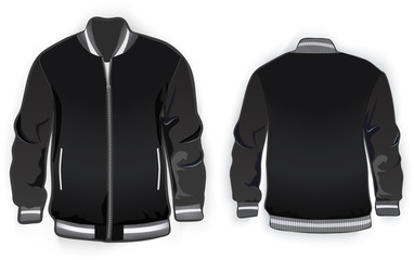Sports or varsity jacket template.