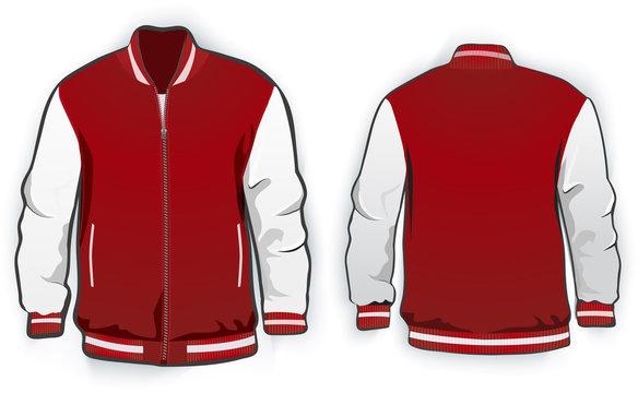 Sports or varsity jacket template.