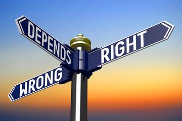 Crossroads sign - choice concept