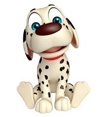 Dog funny cartoon character