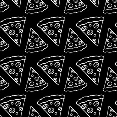 Hand Drawn Ink Pizza