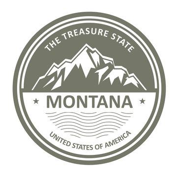 Montana Mountains - Snowbound mountain label