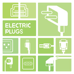 electric plug icons