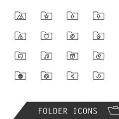 Vector folder icons.