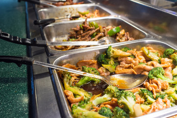 Chicken and Broccoli Buffet