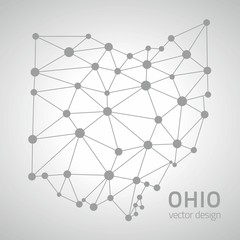 Ohio America vector polygonal map
