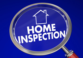 Home Inspection Magnifying Glass House Safety Check 3d Illustrat